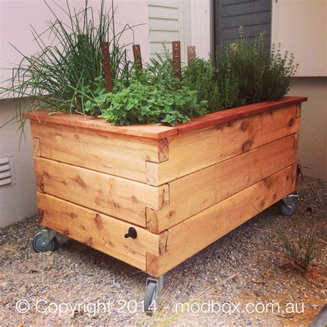 Planter Box With Wheels by Wicking Garden Beds Modbox
