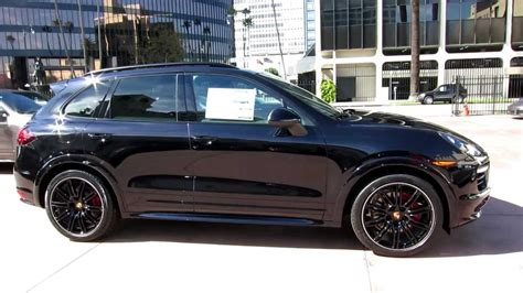 porsche cayenne all black 2013 porsche cayenne gts jet black metallic now for sale