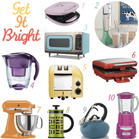 kitchen appliances colored kitchen appliances 10 colorful kitchen appliances