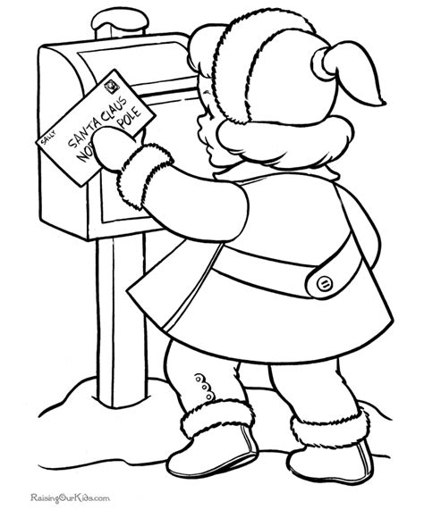 coloring pages letter to santa kid s printable christmas coloring pages letter to santa