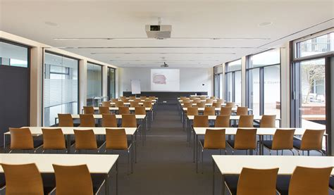 seminar style layout embl advanced training centre meeting rooms courtyard