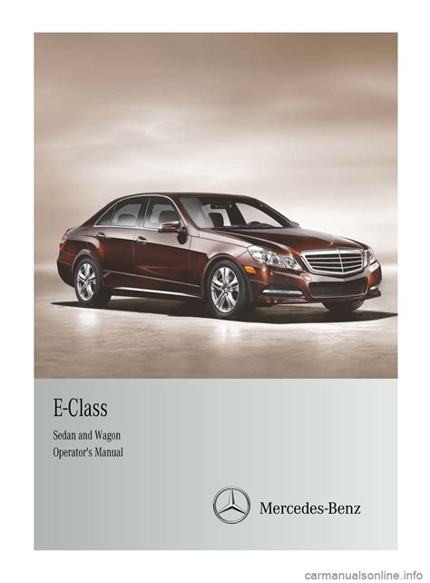 mercedes benz e class wagon 2012 w212 owner s manual