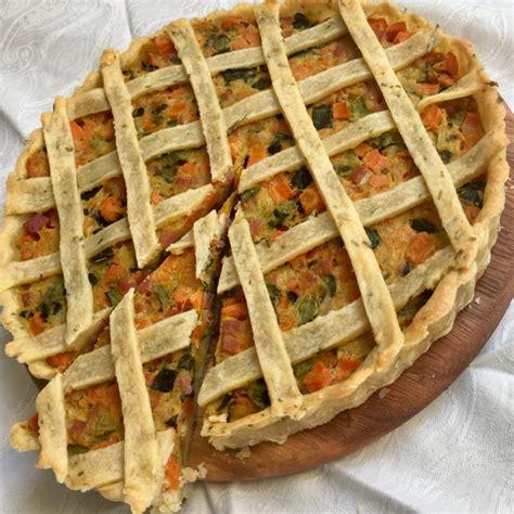 carote e sedano torta salata con sedano carote patate e pancetta ricetta