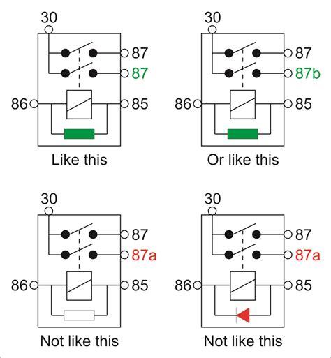87 87a relay wiring diagram wiring diagram schemes