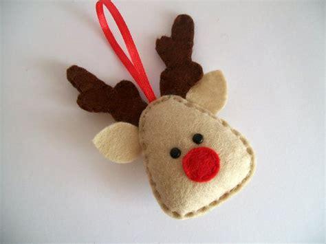 diy christmas ornament ideas homemade felt wood