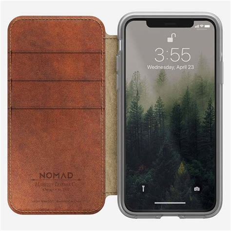 Nomad Wallet For Iphone X nomad clear folio leather iphone x wallet gadgetsin