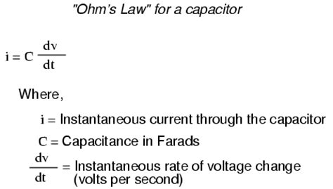 capacitor current differential equation capacitors and calculus capacitors electronics textbook