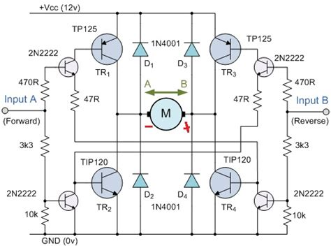 h bridge diode protection how do flyback diodes work in h bridge configuration