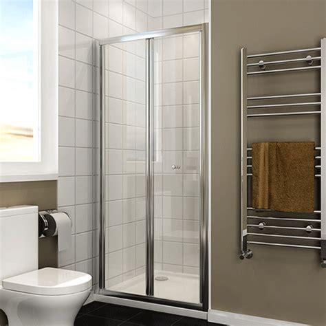 Tempered Glass Shower Doors Bathroom Bifold Shower Door Enclosure 5mm Tempered Glass Screen Ebay