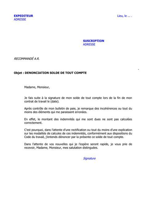 Modele Solde De Tout Compte Word