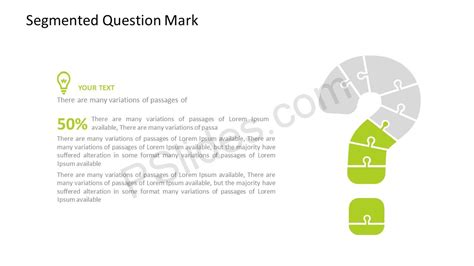 powerpoint templates question mark segmented question mark powerpoint template