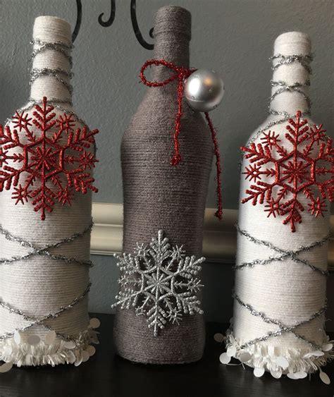 christmas holidays wine bottle de decorated wine