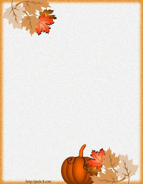 printable fall stationery paper holiday paper borders printables fall harvest
