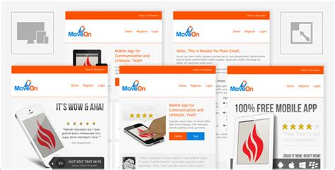 moveon mobile friendly and responsive html email by