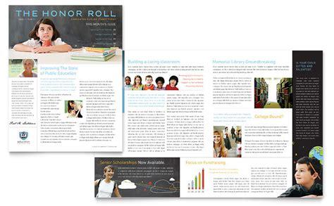 education foundation school newsletter template word
