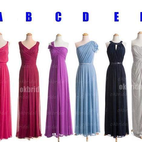 Bridesmaid Dress Material Options - chiffon bridesmaid dresses affordable bridesmaid dresses