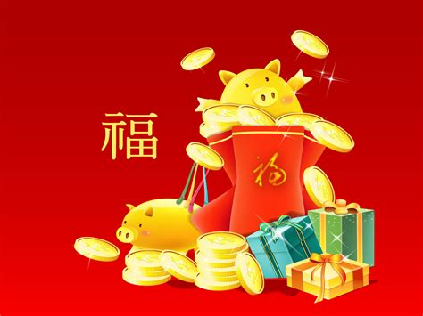 2007 Year Of The New by 桌布天堂 2007新年桌布 豬年桌布17