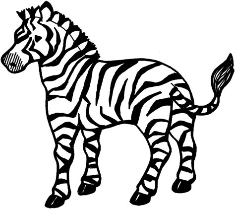 Printable Coloring Page Of A Zebra | free printable zebra coloring pages for kids