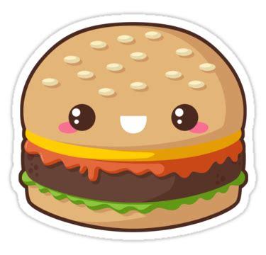 Cetak Sticker A3 Transparant Cutting 1 quot kawaii cheeseburger quot stickers by pai thagoras redbubble