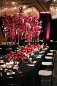 everything about fuchsia black themed weddings