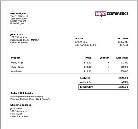 invoice pdf woocommerce pdf invoice by rightpress codecanyon
