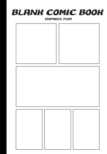 print your own papes blank journal and broadway musical gift books blank comic blank comic book 7 x10 with 6 panel