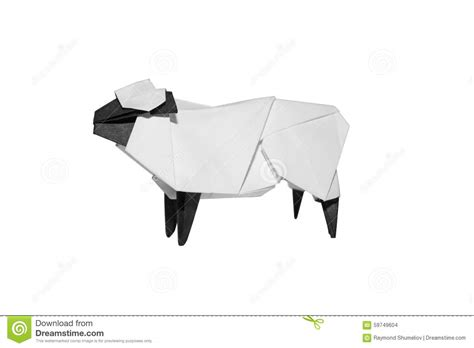 How To Make Origami Sheep - origami sheep isolated on white stock photo image 59749604