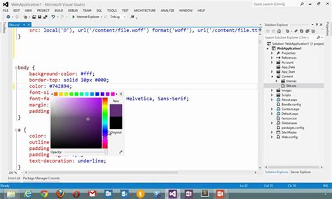 Microsoft Official Website Visual Studio 2012 Css Editor Official Microsoft Site