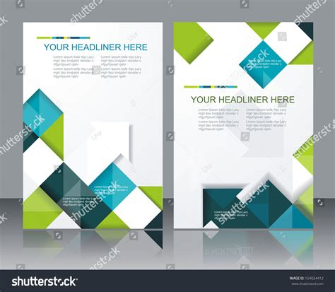 template design vector brochure template design with cubes and arrows