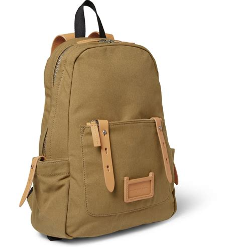 Marc By Marc Exclusive Canvas Backpack by Marc By Marc Leathertrimmed Canvas Backpack In