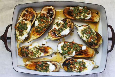 Kitchen Set Hello 662 8 roasted eggplant with cilantro almond salsa
