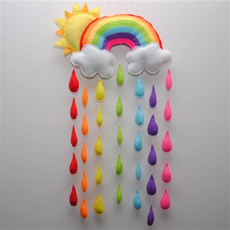 wall hanging craft for and rainbow baby nursery mobile wall hanging