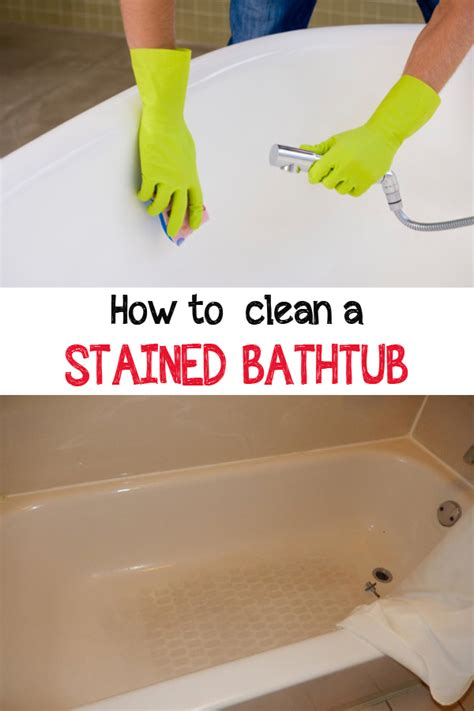 clean  stained bathtub cleaning hacks