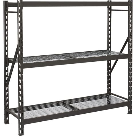industrial storage shelves edsal industrial storage rack 72in w x 24in d x 72in h 3 shelf model 7224prbwwd3
