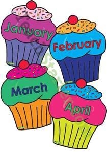 cupcake birthday chart template cupcake birthday chart