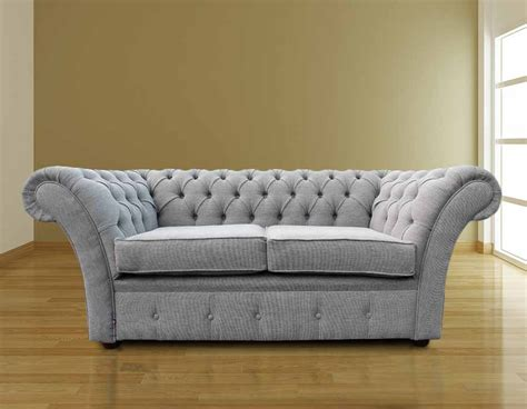 buy settees online buy your grey silver fabric chesterfield settee online