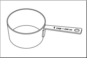 Abc Cup clip measuring cups one cup b w i abcteach