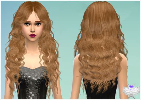 custom content hair curly hair custom content sims 4 long wavy modified