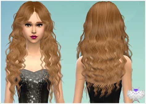 custom conten hair curly hair custom content sims 4 long wavy modified