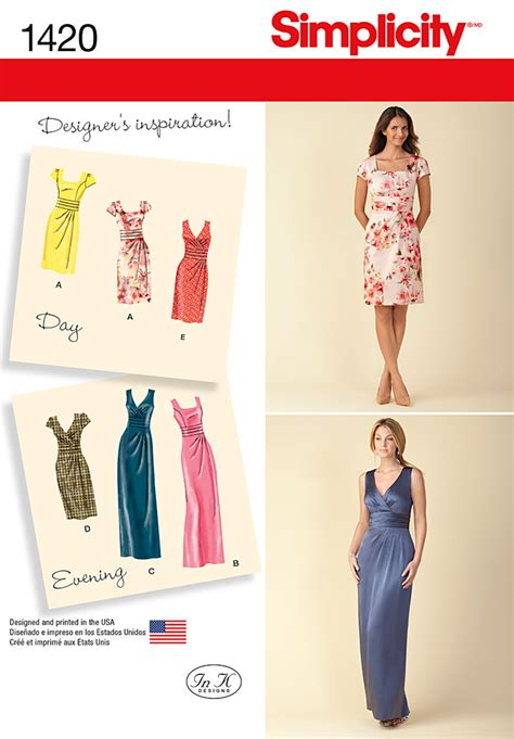 pattern review best patterns 2014 simplicity 1420 misses dress in two lengths with bodice