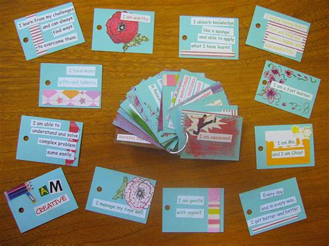 task cards template for affirmations from the up 101 affirmations for children