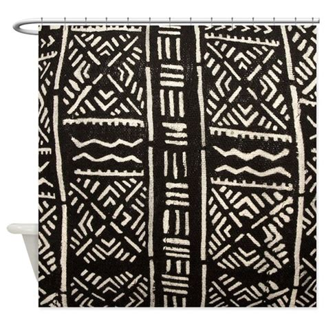 mud cloth curtains african tribal print mudcloth shower curtain by