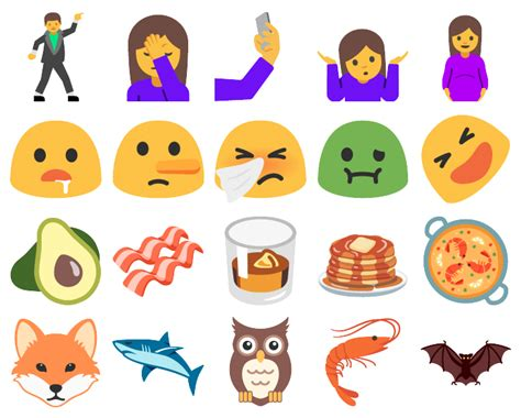 new iphone emojis for android android n supporte d 233 j 224 des emojis qui ne sortiront pas avant plusieurs mois frandroid