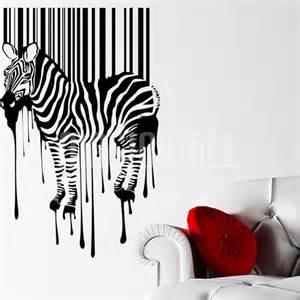 Zebra Wall Sticker Wall Decals Wall Stickers Fancy Zebra Bar Code