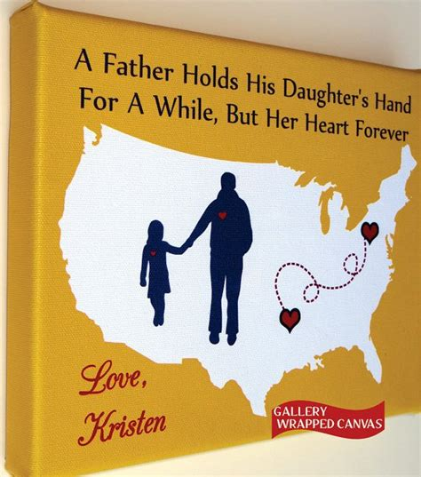 canvas christmas gift for dad birthday from daughter by