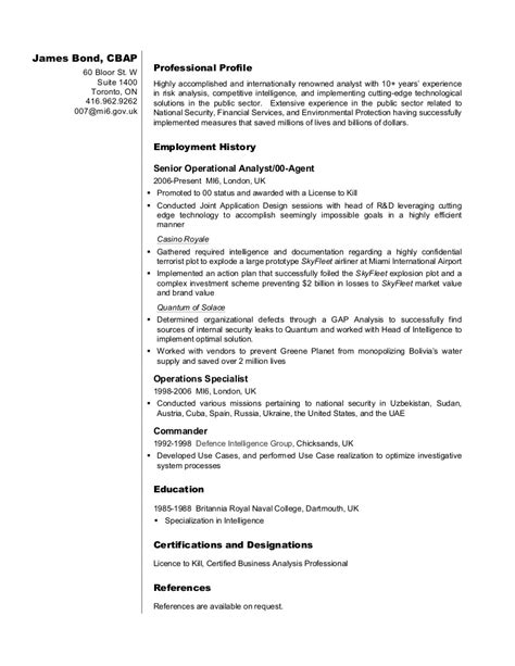 Do Resumes Need To Be Pdf Business Analyst Resume Sle Bond