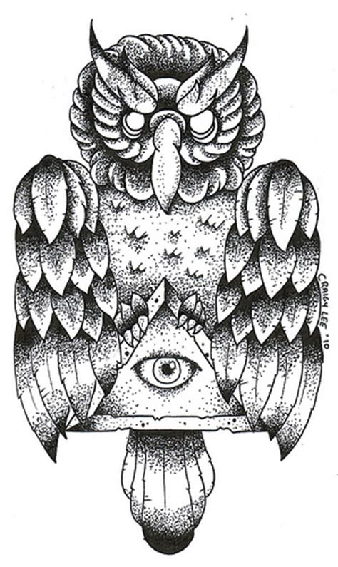 old school owl tattoo design old school owl dotwork tattoo design flickr photo sharing