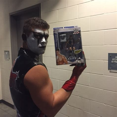 cody rhodes tattoo stardust signed series 32 figure auction