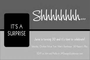 how to make surprise birthday party invitations