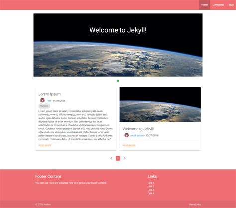 jekyll themes github pages github joshuaavalon jekyll avalon materialize jekyll theme